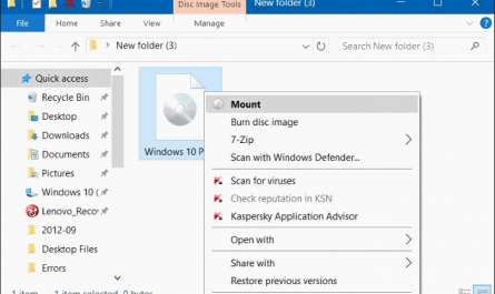 Option Mount manquante dans le menu contextuel dans Windows 10
