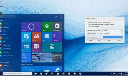 Rendre le menu Demarrer de Windows 10 transparent
