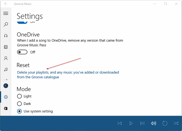 Restaurer Groove Music dans Windows 10 pic3