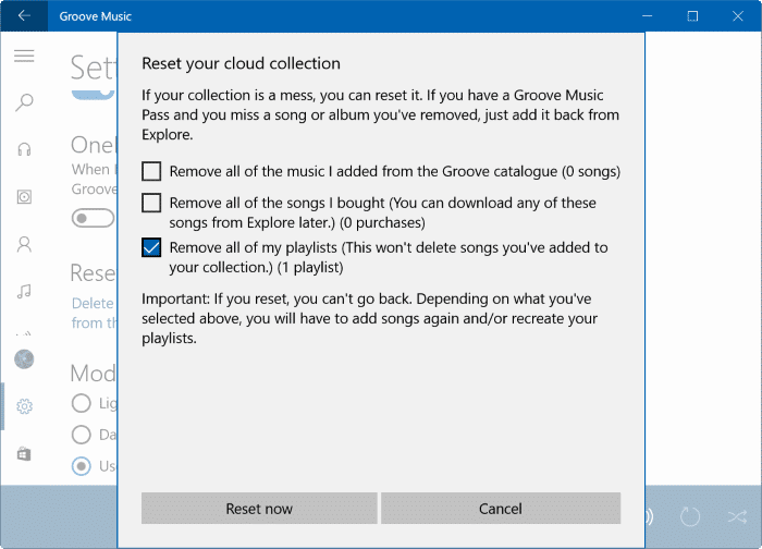 Restaurer Groove Music dans Windows 10 pic4