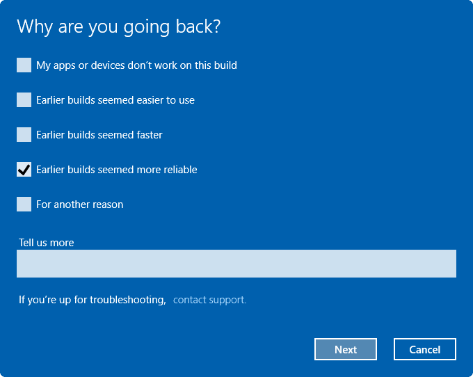 désinstaller Windows 10 Anniversary Update pic2