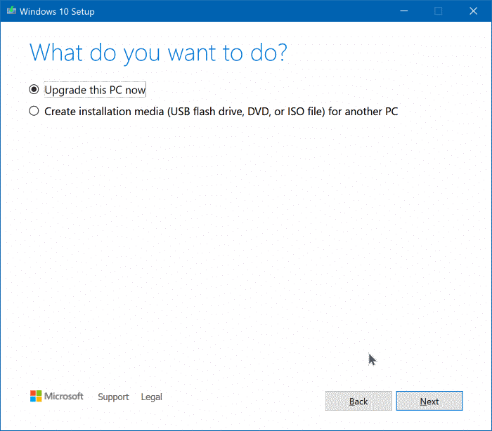 Mettre à niveau vers Windows 10 version 1909 pic2