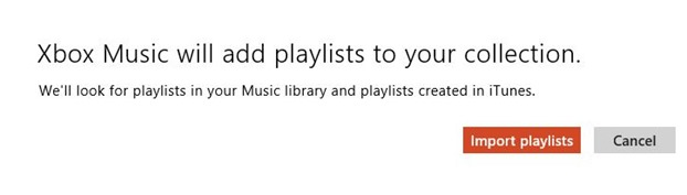 Importer la liste de lecture iTunes dans l'application Xbox Music dans Windows 8 Étape 4