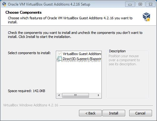 Activez Windows 7 Aero dans VirtualBox Step3