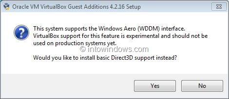 Activez Windows 7 Aero dans VirtualBox Step4