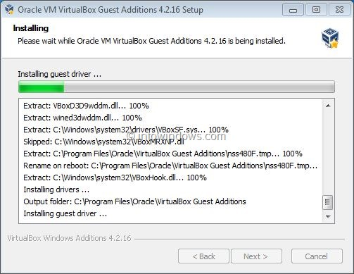 Activez Windows 7 Aero dans VirtualBox Step6