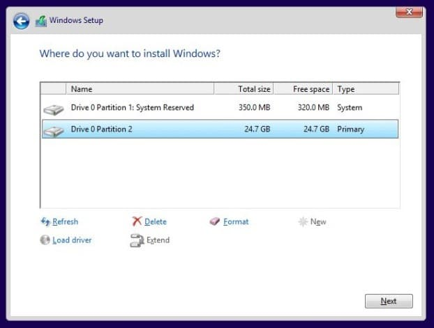 Installez Windows 8.1 sur SSD Step9