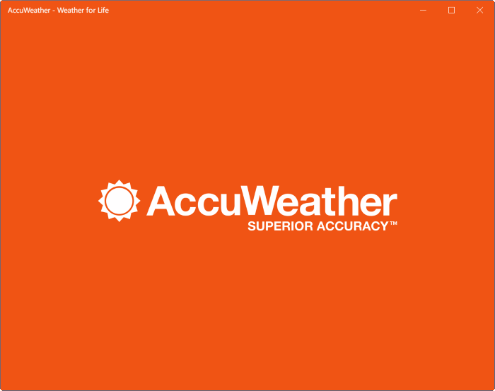 application accuweather pour windows 10