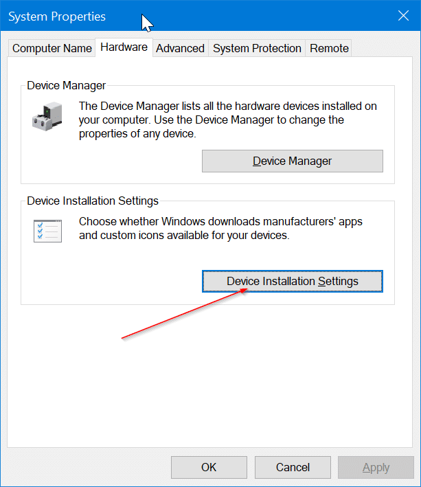 Empêcher Windows 10 d'installer automatiquement l'imprimante et l'application du scanner pic1
