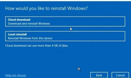 Comment restaurer Windows 10 a laide de loption de telechargement
