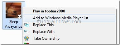 Comment supprimer les entrees de Windows Media Player du menu