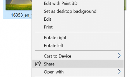 Remove Share from context menu in Windows 10 pic01