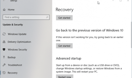 Revenir a la version precedente de Windows 10 apres 10