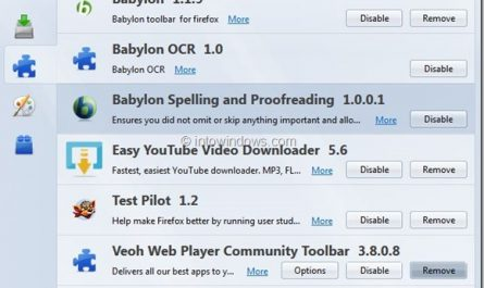 Supprimer Babylon Search de Firefox Chrome et Internet Explorer