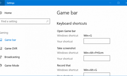 change game bar default keyboard shortcuts