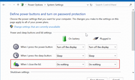 prevent laptop from starting upon opening the lid in windows 10 pic3